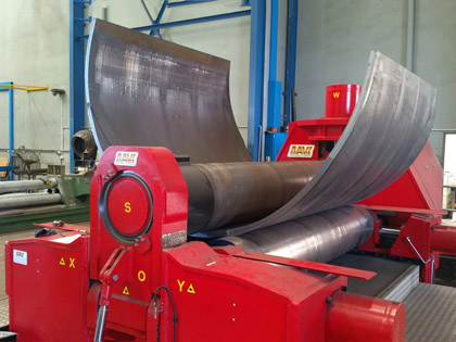 Cylinder/ Shell/ Drum Bending and Rolling Service